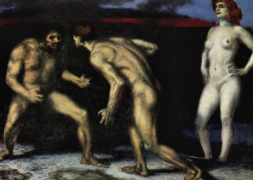 Franz Von Stuck - The Struggle for Woman