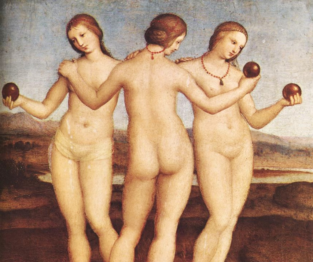 Raphael - The Three Graces (Detail)