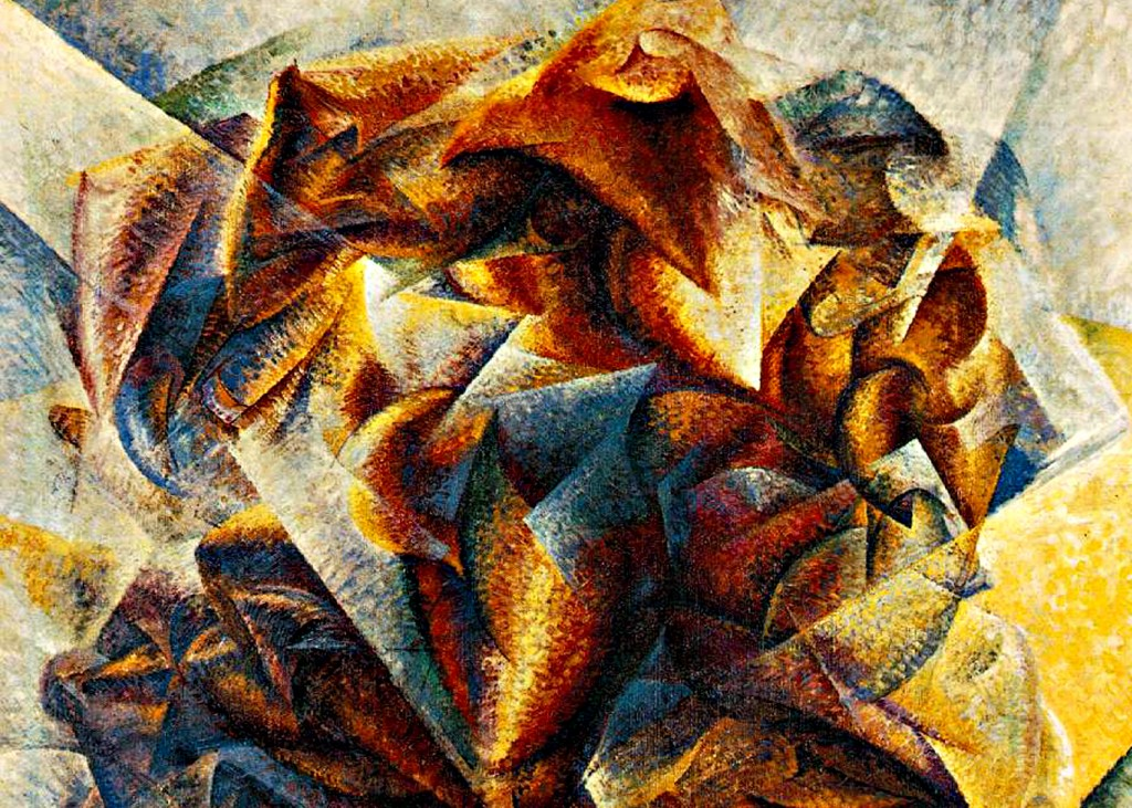 Umberto Boccioni - Dynamism of a Soccer Player (Detail)