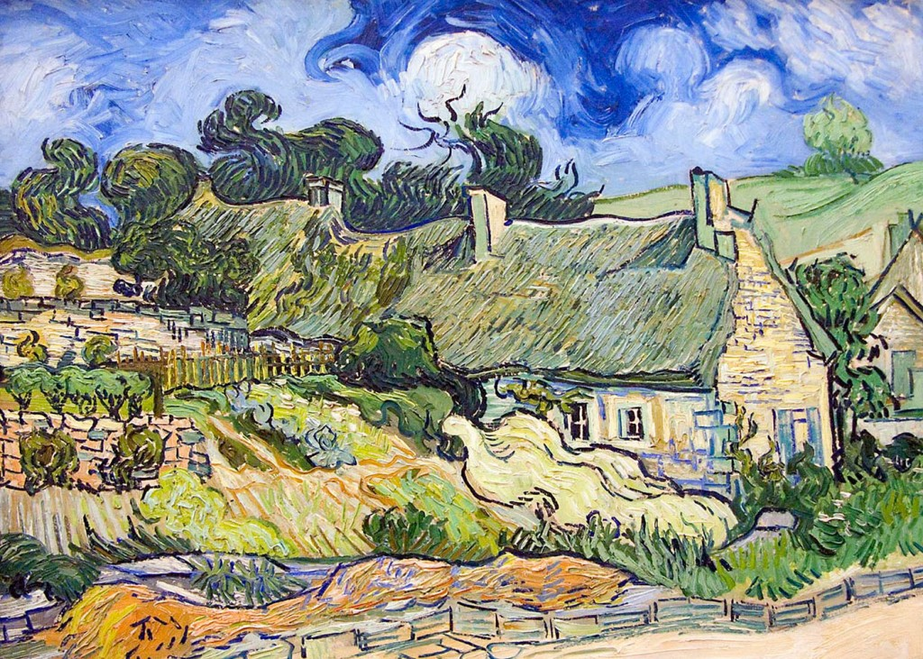 Vincent Van Gogh - Cottages with Thatched Roofs
