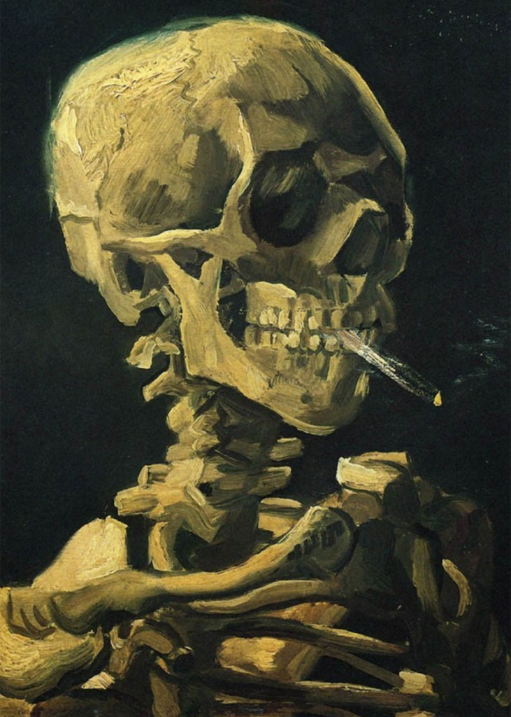 Vincent Van Gogh - Scull with Cigarette