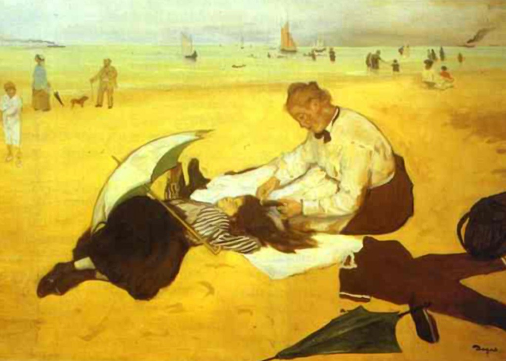 Edgar Degas - At the Beach