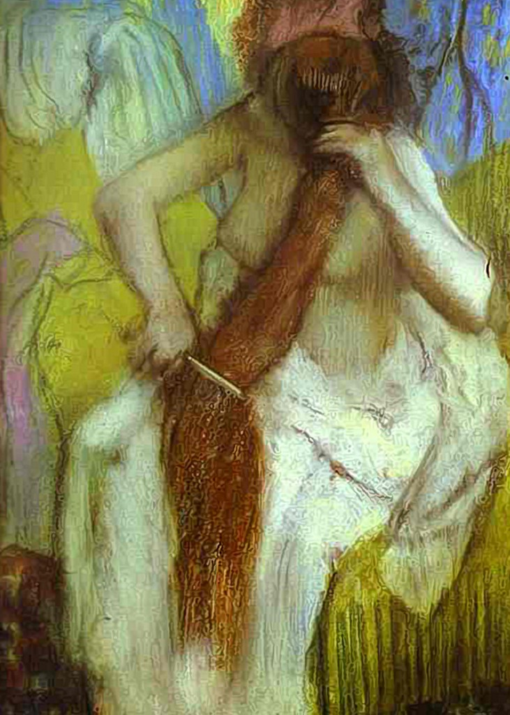 Edgar Degas - Girl Combing Her Hair