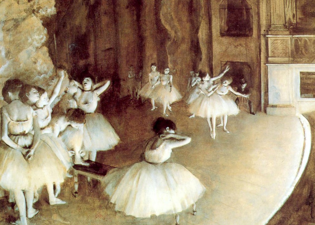 Edgar Degas - Rehearsal on Stage