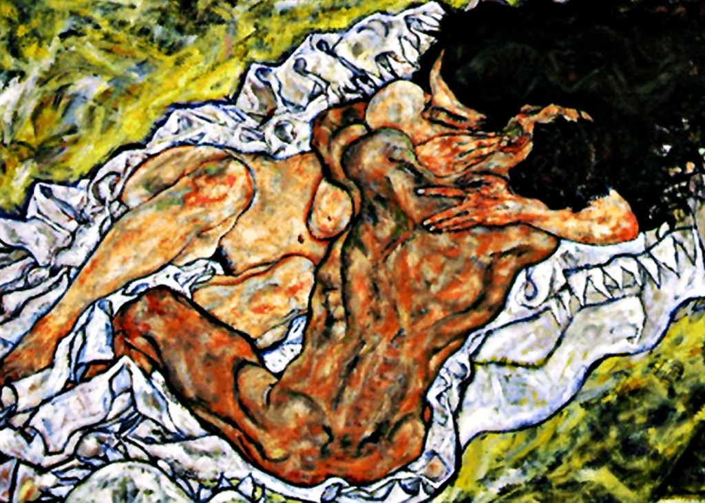 Egon Schiele - Lovers Embrace (Detail)
