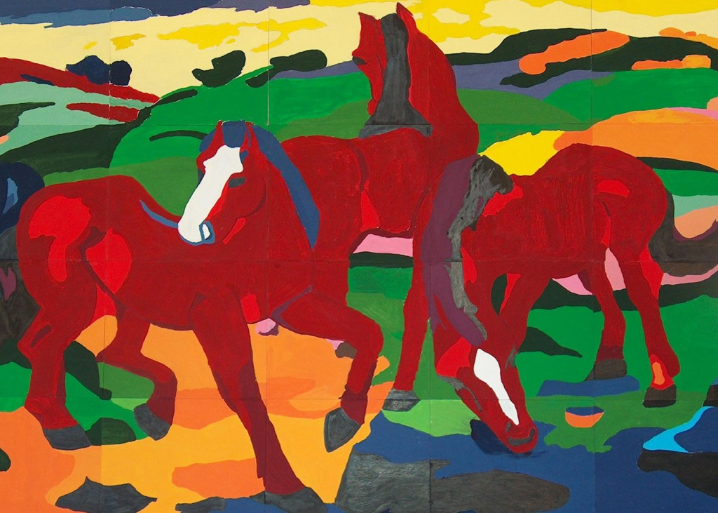 Franz Marc - Red Horses