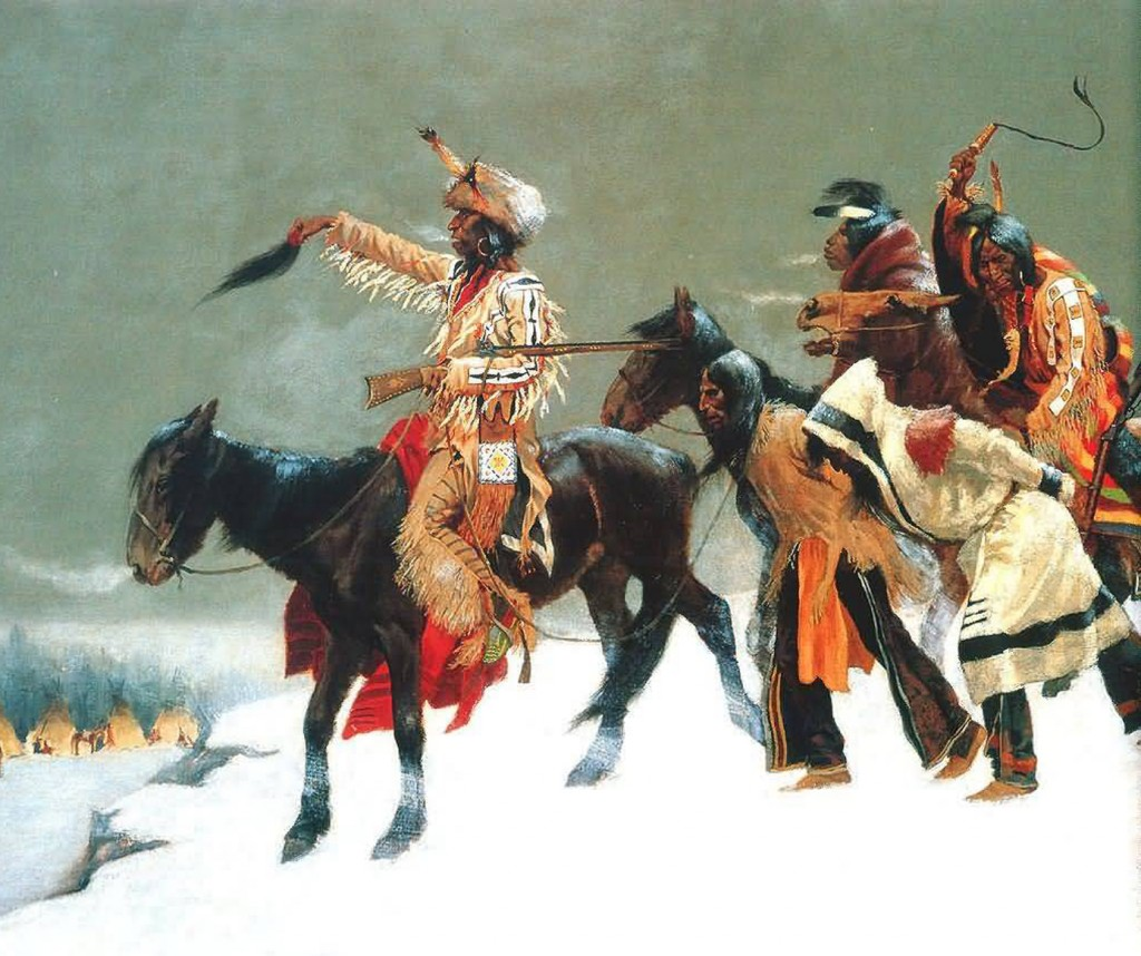 Frederic Remington - Return of the Blackfoot War Party