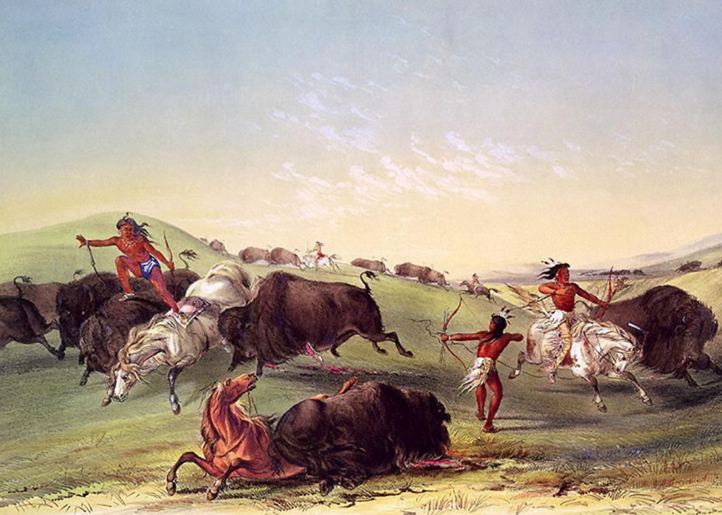 George Catlin - Buffalo Hunt
