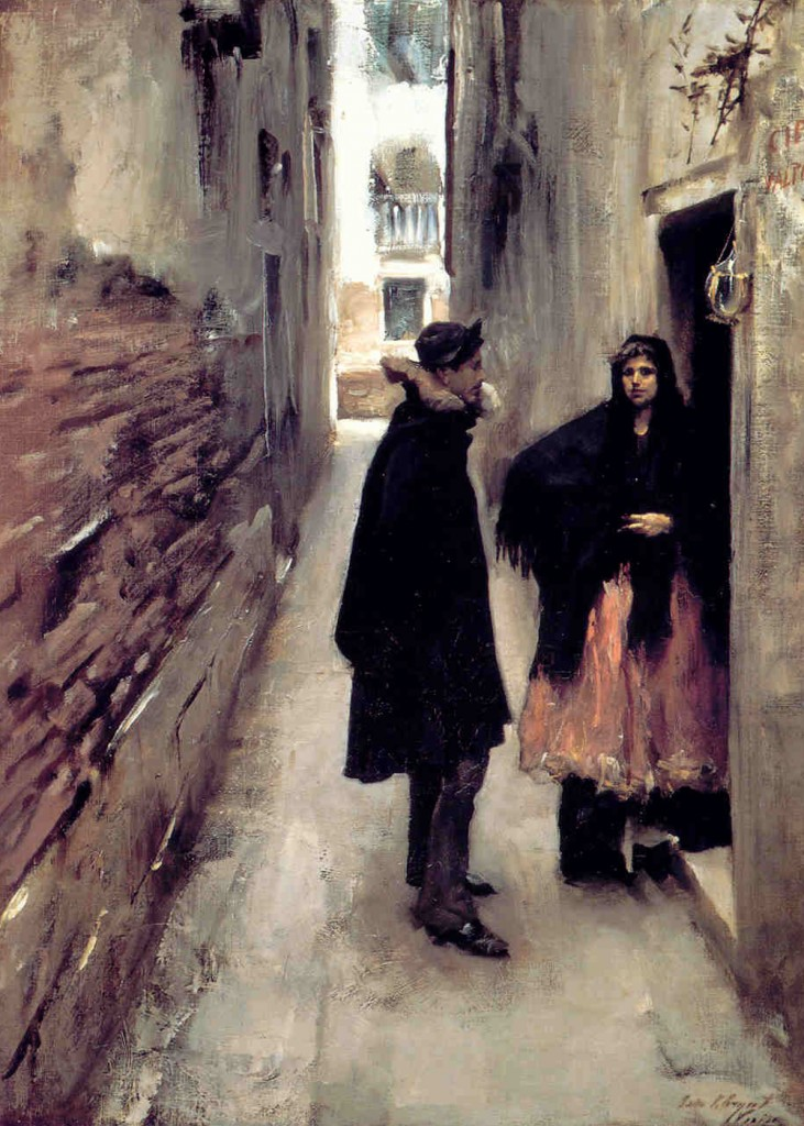 John Singer Sargent - A Street in Venice