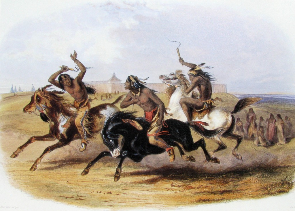 Karl Bodmer - Horse Racing of the Sioux