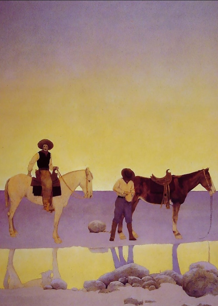 Maxfield Parrish - Cowboys