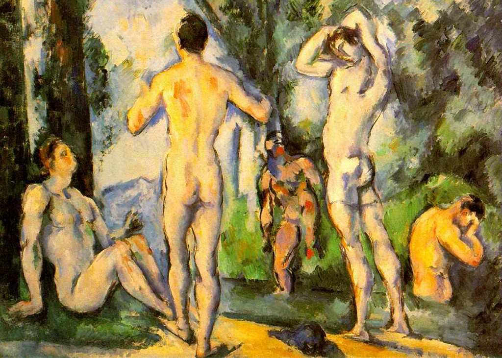 Paul Cezanne - Bathers in Open Air