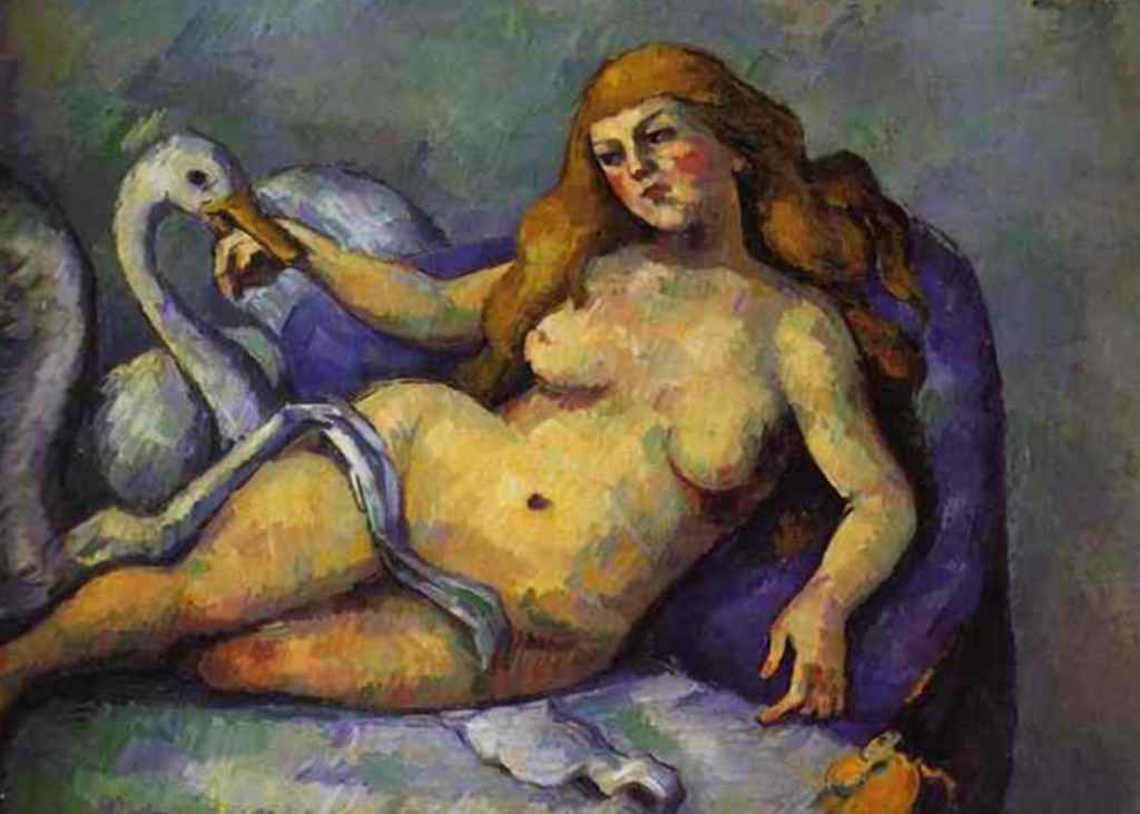 Paul Cezanne - Leda with Swan